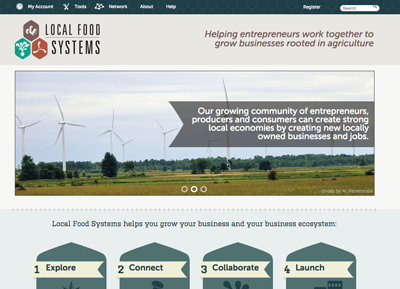 Local Food Systems Site Screenshot